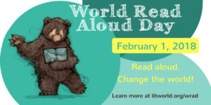 "Family Talkは""World Read Aloud Day in 2018″ に賛同しています!"